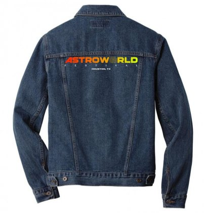 Astroworld Festival At Houston Texas Men Denim Jacket Designed By Cahayadianirawan