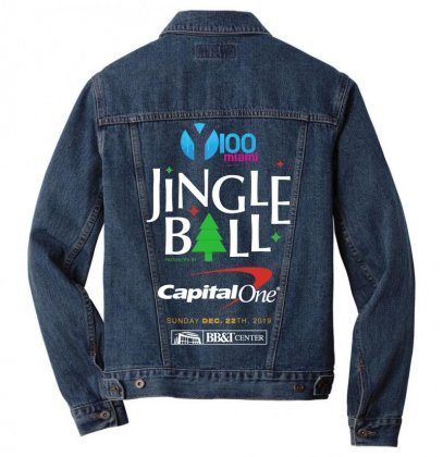 Y100 Miami Jingle Ball Festival 2019 Men Denim Jacket Designed By Cahayadianirawan