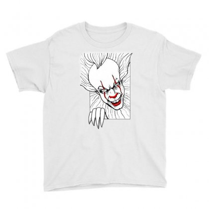 Funny Clown Youth Tee Designed By Mirazjason