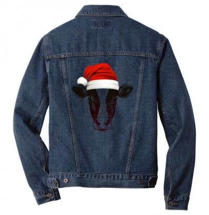 Cow Christmas Men Denim Jacket Designed By Gurkan