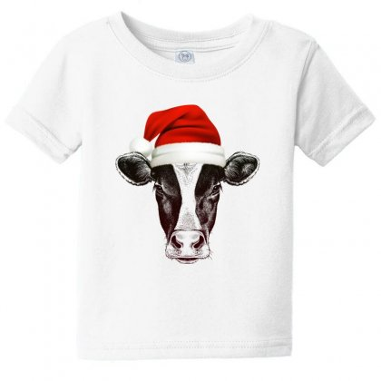 Cow Christmas Baby Tee Designed By Gurkan