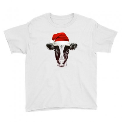 Cow Christmas Youth Tee Designed By Gurkan