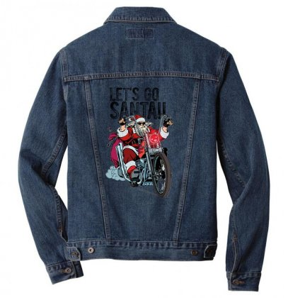 Let's Go Santa Men Denim Jacket Designed By Gurkan
