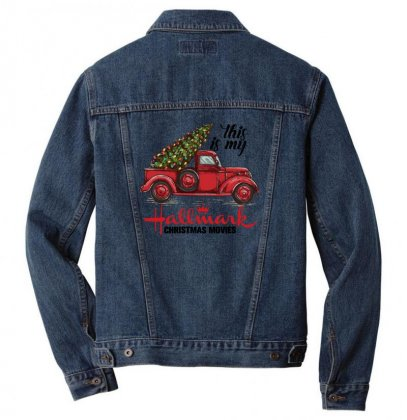 This Is My Hallmark Christmas Movies Men Denim Jacket Designed By Gurkan