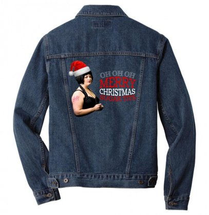 Vanessa Jenkins Christmas Men Denim Jacket Designed By Gurkan