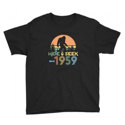 Vintage Bigfoot Hide And Seek Since 1959 Youth Tee Designed By Sr88