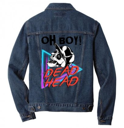 Oh Boy, Dead Head T-shirt Men Denim Jacket Designed By Beast99