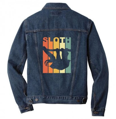 Vintage Sloth Men Denim Jacket Designed By Sr88