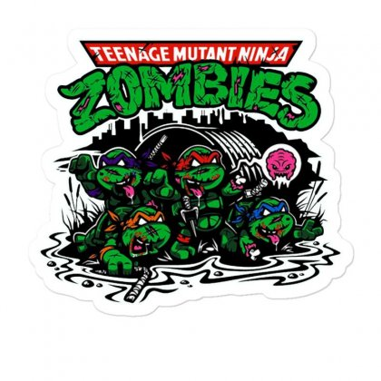 Zombies Turtles Funny Sticker Designed By Mirazjason