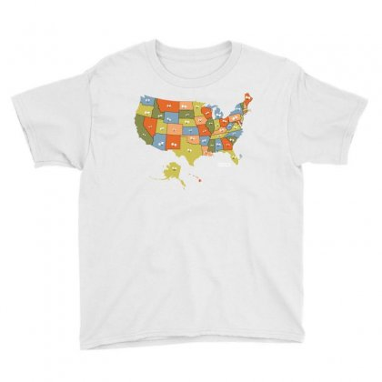 United Selfie Of America Youth Tee Designed By Dameart