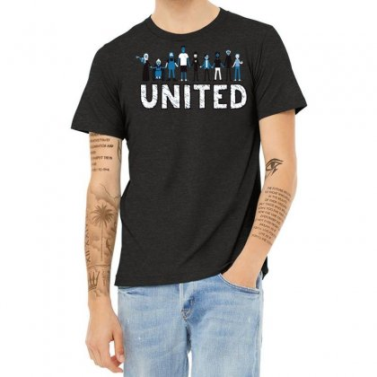 United We Stand Heather T-shirt Designed By Dameart