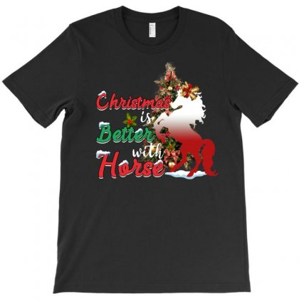 Christmas Is Better With Horse T-shirt Designed By Omer Acar