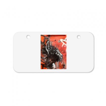 Black Cat Bicycle License Plate Designed By Zein