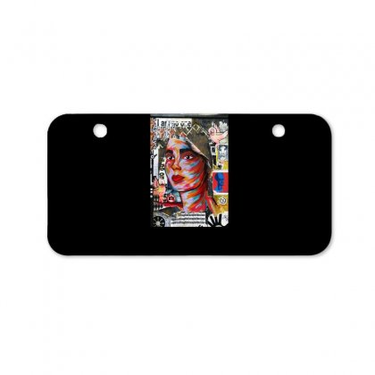 Woman Cover Bicycle License Plate Designed By Zein