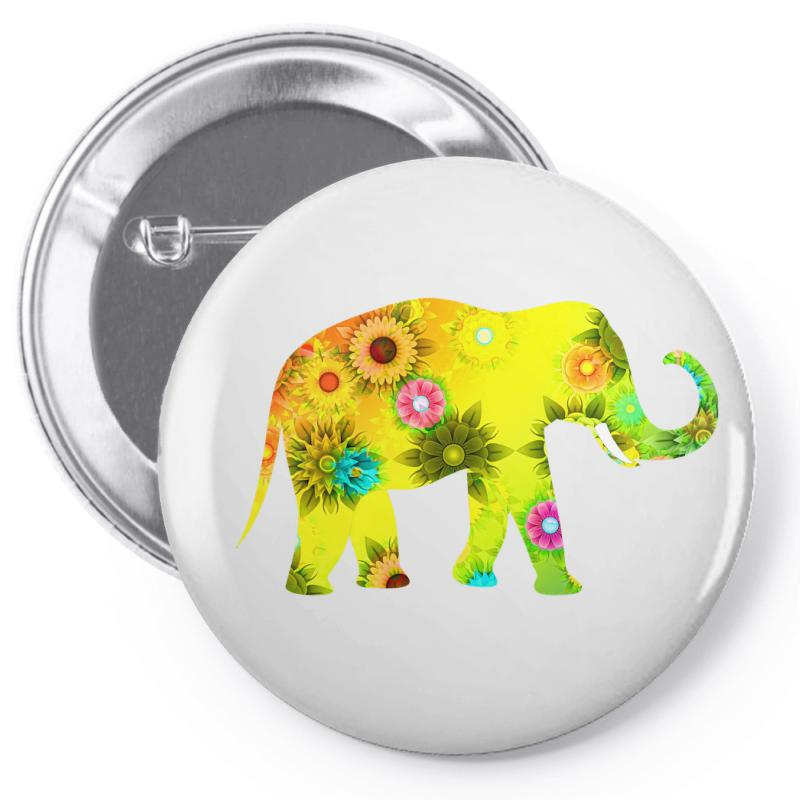 Colored Elephant Pin-back Button | Artistshot