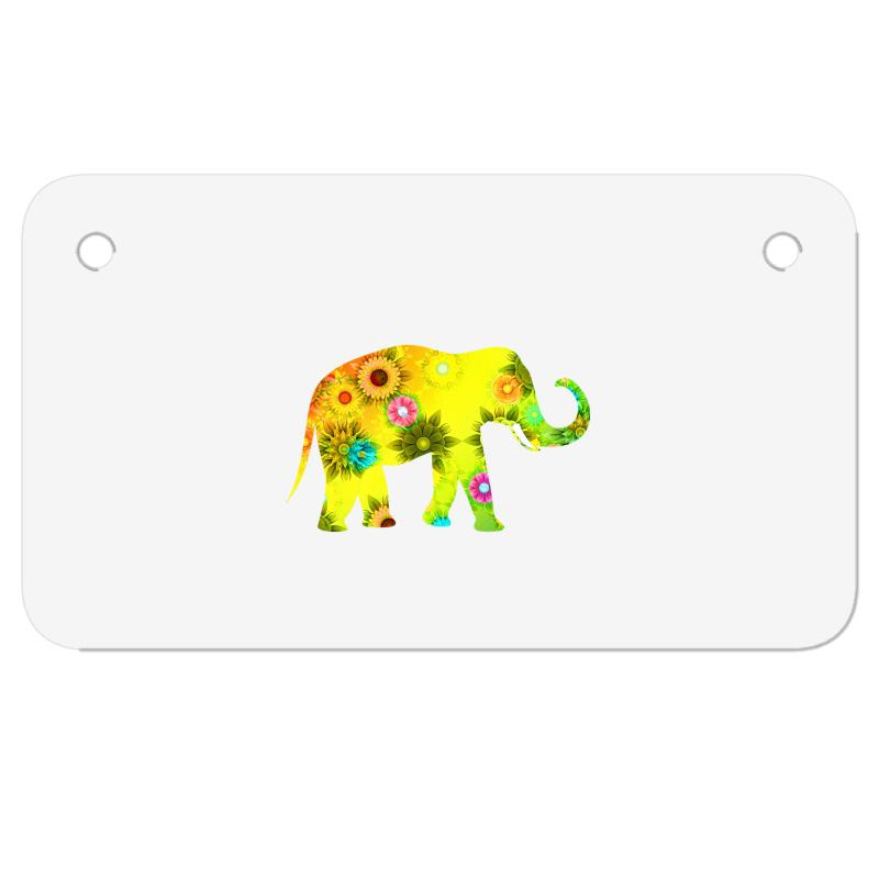 Colored Elephant Motorcycle License Plate | Artistshot