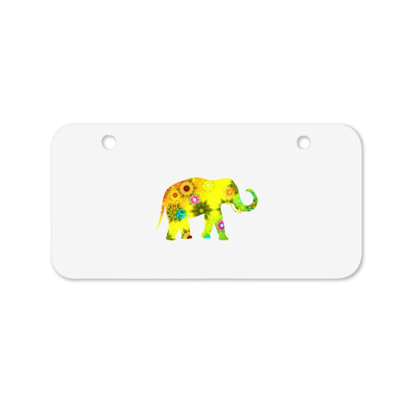Colored Elephant Bicycle License Plate | Artistshot