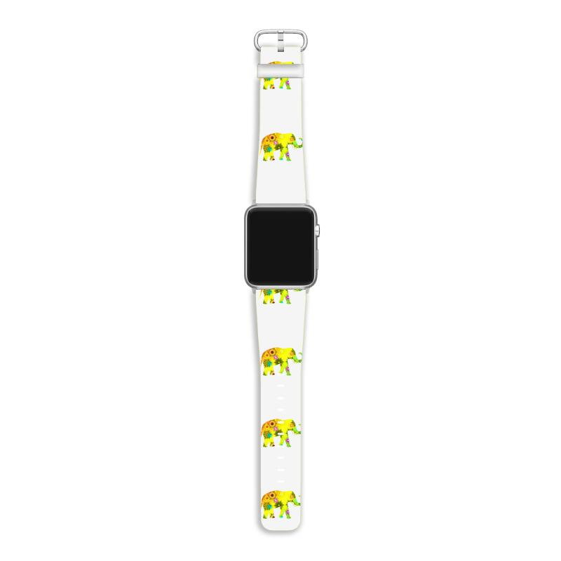 Colored Elephant Apple Watch Band | Artistshot