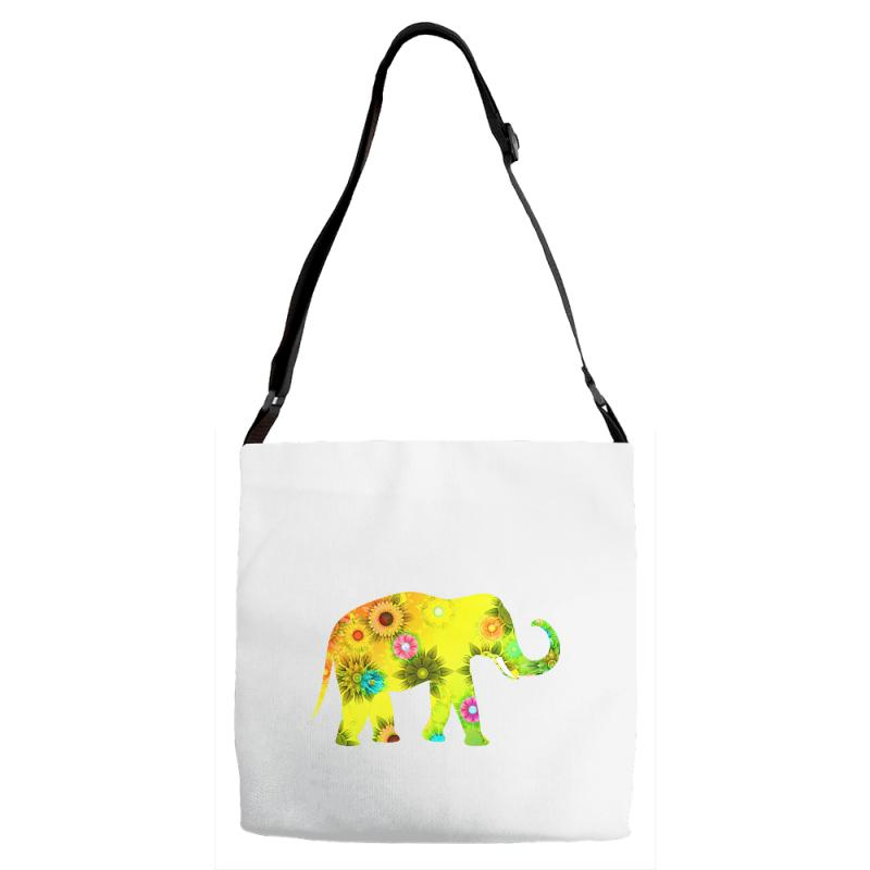 Colored Elephant Adjustable Strap Totes | Artistshot