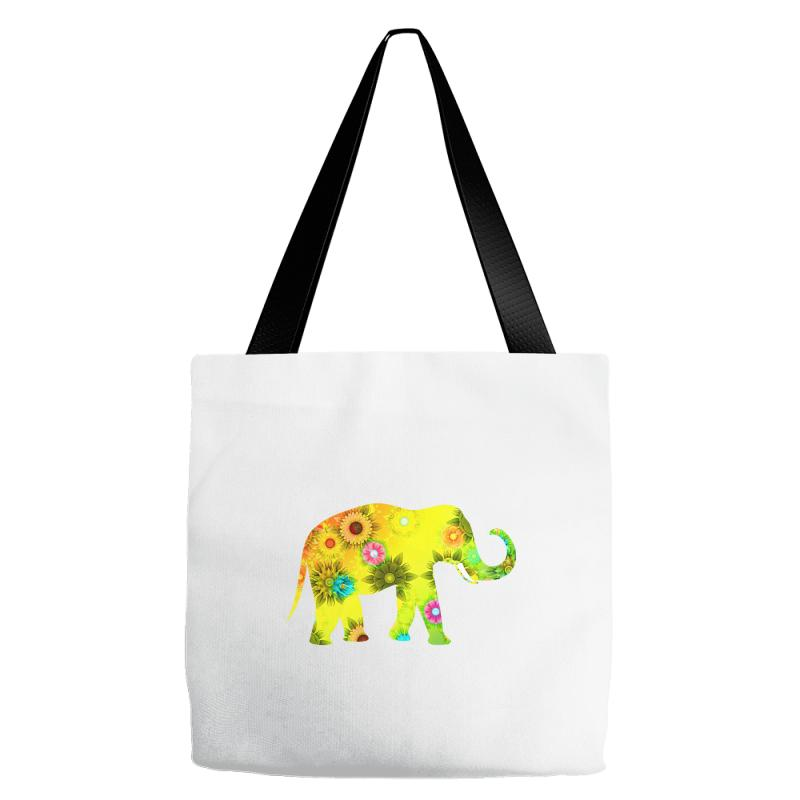 Colored Elephant Tote Bags | Artistshot