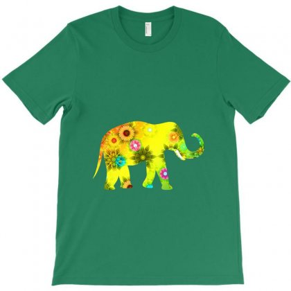 Colored Elephant T-shirt Designed By Zein