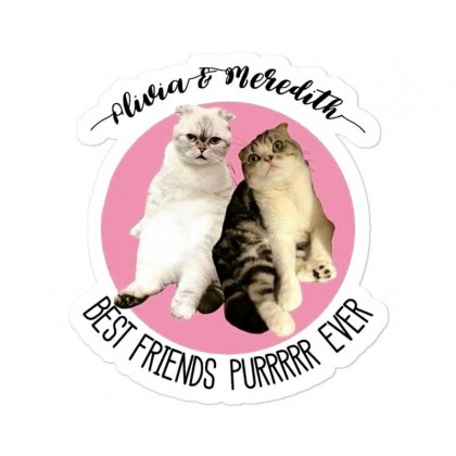 Olivia And Meredith Best Friends Sticker Designed By Oktaviany