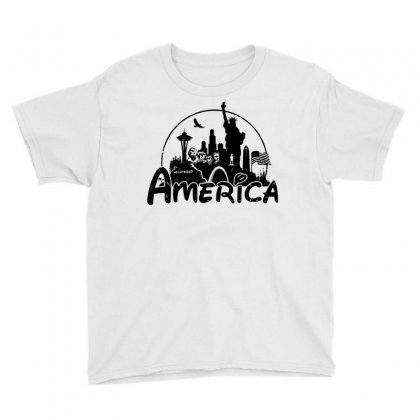 Welcome To America Youth Tee Designed By Dameart