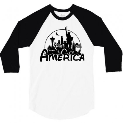 Welcome To America 3/4 Sleeve Shirt Designed By Dameart