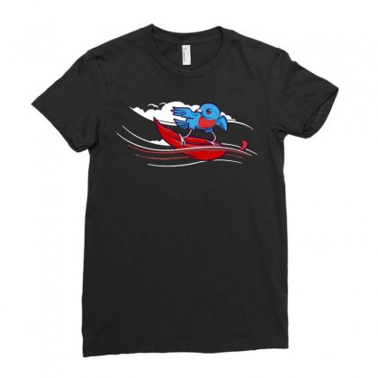 Wind Surfer Ladies Fitted T-shirt Designed By Dameart