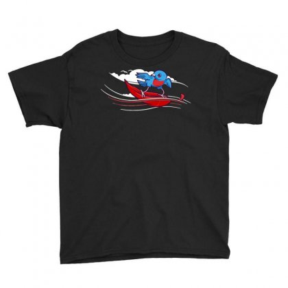 Wind Surfer Youth Tee Designed By Dameart