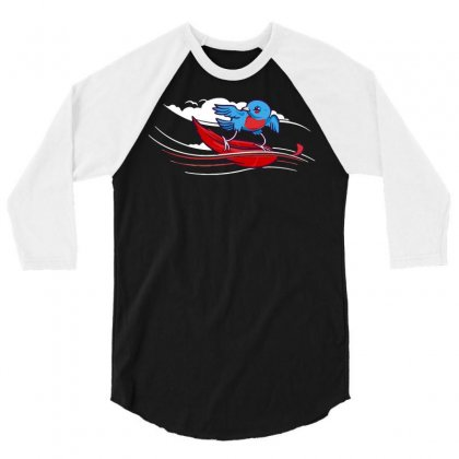 Wind Surfer 3/4 Sleeve Shirt Designed By Dameart