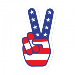Peace Sign Hand Sticker Designed By Tshiart