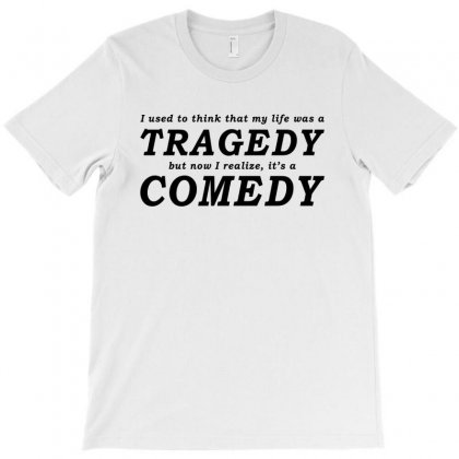 It's A Comedy   Black T-shirt Designed By Blue