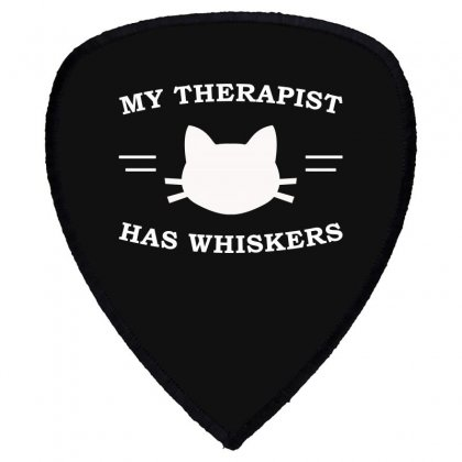 My Therapist Has Whiskers Shield S Patch Designed By Citron