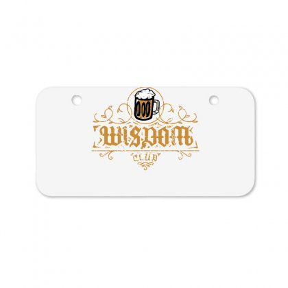 Wisdom Club Bicycle License Plate Designed By Dameart