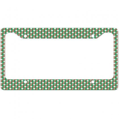 Personalized Christmas Stocking Family Matching Square Pattern License Plate Frame Designed By Honeysuckle