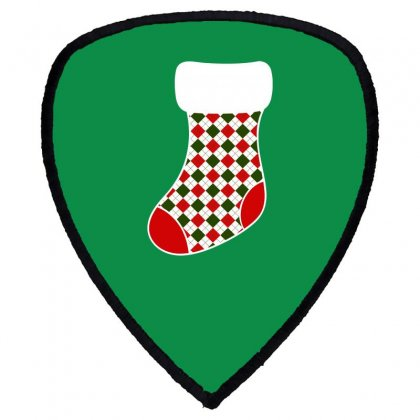 Personalized Christmas Stocking Family Matching Square Pattern Shield S Patch Designed By Honeysuckle