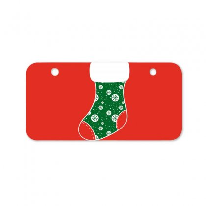 Personalized Christmas Stocking Family Matching Snowflakes Bicycle License Plate Designed By Honeysuckle