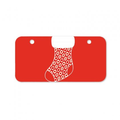 Personalized Christmas Stocking Family Matching Rounded Pattern Bicycle License Plate Designed By Honeysuckle