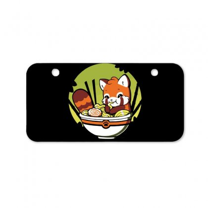 With A Side Of Red Panda Bicycle License Plate Designed By Dameart