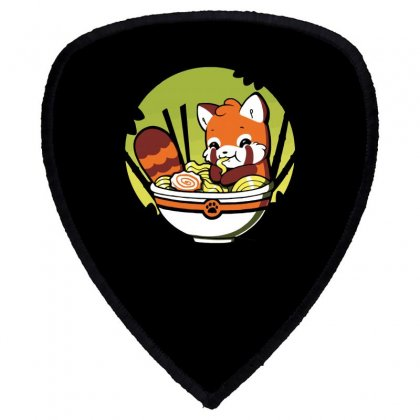 With A Side Of Red Panda Shield S Patch Designed By Dameart