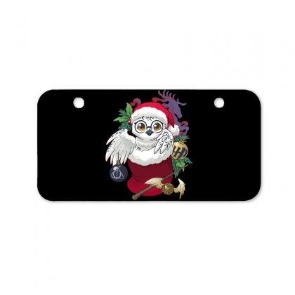 Wizard's Owl Stocking Stuffer Bicycle License Plate Designed By Dameart