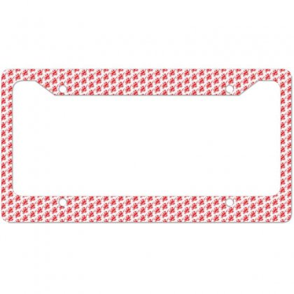 Deer Red License Plate Frame Designed By Ca Si Kancil