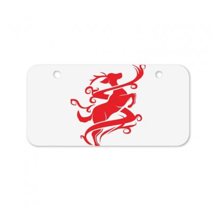 Deer Red Bicycle License Plate Designed By Ca Si Kancil