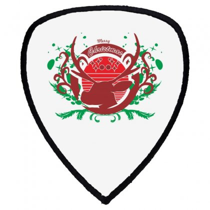 Deer Christmas Shield S Patch Designed By Ca Si Kancil