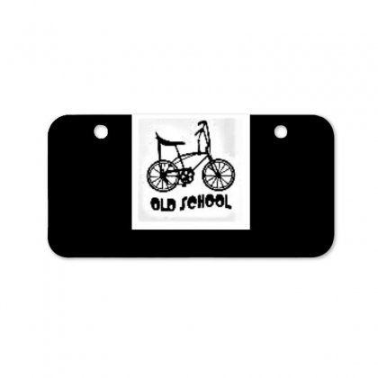 Old School Boy Bicycle License Plate Designed By Trendy Boy