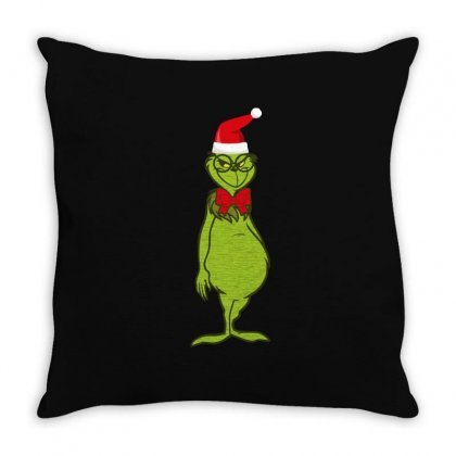 Grinches Throw Pillow Designed By Wizarts