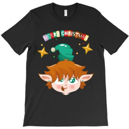 Merry Christmas Elf T-shirt Designed By Wizarts