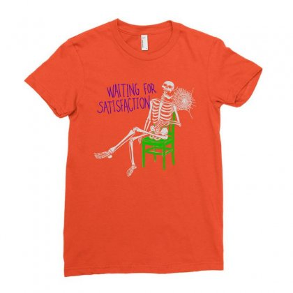 Still Waiting Ladies Fitted T-shirt Designed By Artwoman