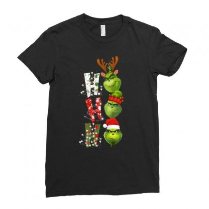 Grinch Ho Ho Ladies Fitted T-shirt Designed By Sengul